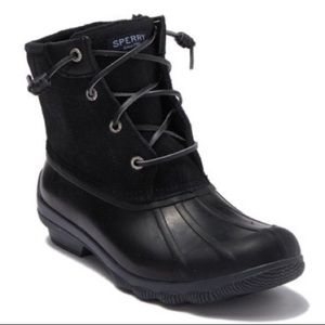 NEW Sperry Waterproof Lace Up Duck Boot
